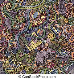 Seamless pattern with female fashion things