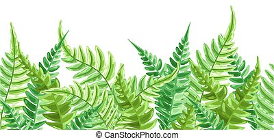 Seamless pattern with fern leaves.