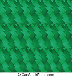 Seamless pattern with fir-tree. Vector