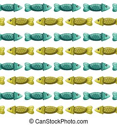 Seamless pattern with fish-2