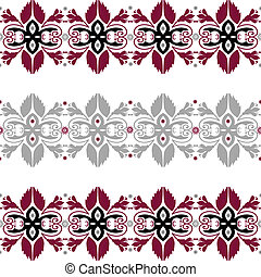 Seamless pattern with floral elements on white