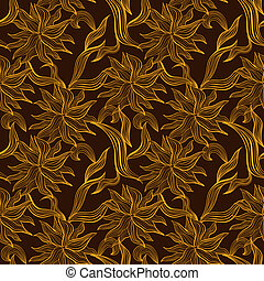 Seamless pattern with floral lace ornament