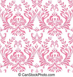 Seamless pattern with floral pink  background.