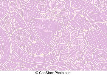 Butterfly Henna Paisley Doodle Hand Drawn Ornate