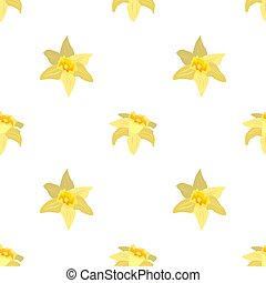 Seamless pattern with flowers daffodils