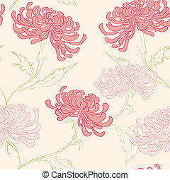 seamless pattern with flowers - hand drawing vector seamless...