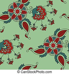 seamless pattern with flowers in in
