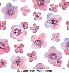 Seamless pattern with flowers in vector. - Seamless pattern...