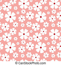 Seamless pattern with flowers on a pink background