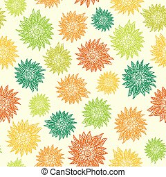Seamless pattern with flowers on light background