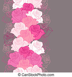 Seamless pattern with flowers roses.