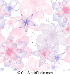 Seamless pattern with flowers roses, floral illustration