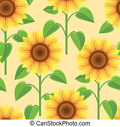 Seamless pattern with flowers sunflowers.eps