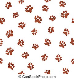 Seamless pattern with footprint of