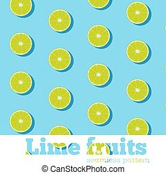 Seamless pattern with fresh limes