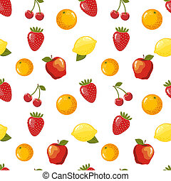 Seamless pattern with fruits. Vector