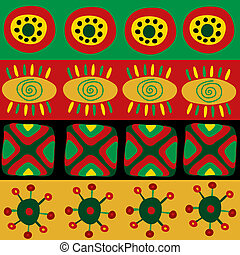 Seamless pattern with funny African ornament