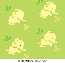 Seamless pattern with funny elephants.