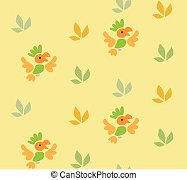 Seamless pattern with funny parrots
