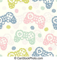 Seamless pattern with game controller Abstract background