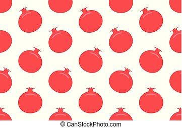 Seamless pattern with Garnet. flat style. isolated on white...