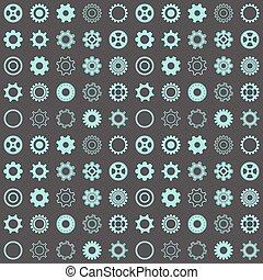 Seamless pattern with gear wheels