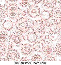 Seamless pattern with gears