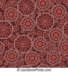 Seamless pattern with gears.