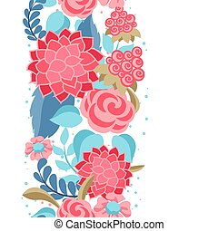 Seamless pattern with gentle flowers.