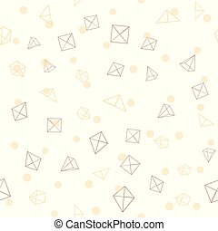 Seamless pattern with geometric figures on white background. Vector.