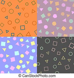 Seamless pattern with geometric figures. Texture pattern. Vector.