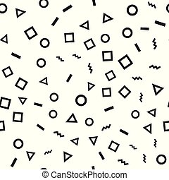 Seamless pattern with geometric figures. Vector.