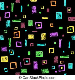 Seamless pattern with geometric shapes