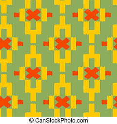 Seamless pattern with geometric tribal Indian elements