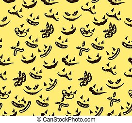 seamless pattern with ghost faces