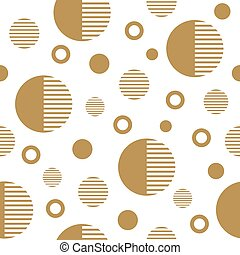 Seamless pattern with gold circles.
