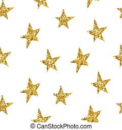 Seamless pattern with gold stars. Vector illustration.