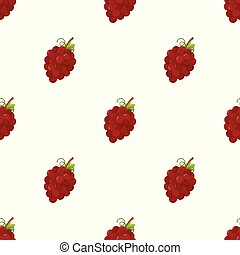 Seamless pattern with grape on white background