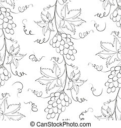 Seamless pattern with grapes.