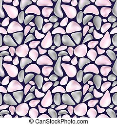 pattern with gray and pink stones - Seamless pattern with...