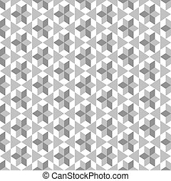 Seamless pattern with gray figures on a white background.