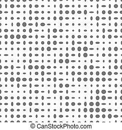 Seamless pattern with gray ovals on a white background.