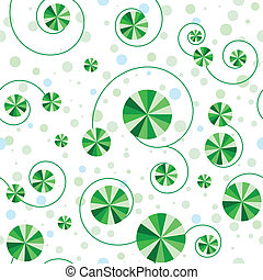 Seamless pattern with green circles