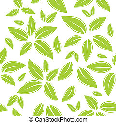 seamless pattern with green leaves