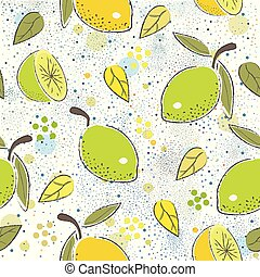 Seamless Pattern with green lime. Scandinavian Style. Unique...