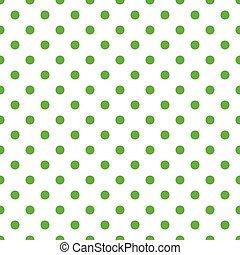 Seamless pattern with green peas on white