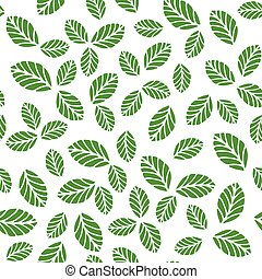Seamless pattern with greenery leaves