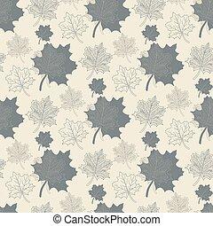 Seamless pattern with grey leaf,abstract leaf,leaf fall