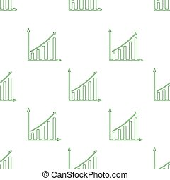 seamless pattern with growing graph