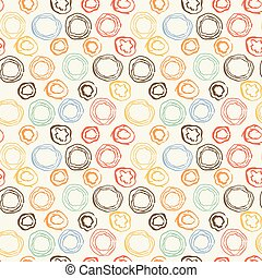 Seamless pattern with grunge circles.